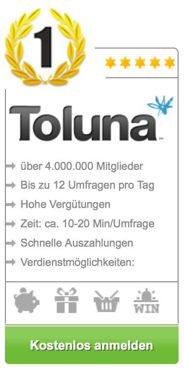 toluna - bezahlte umfrage 1