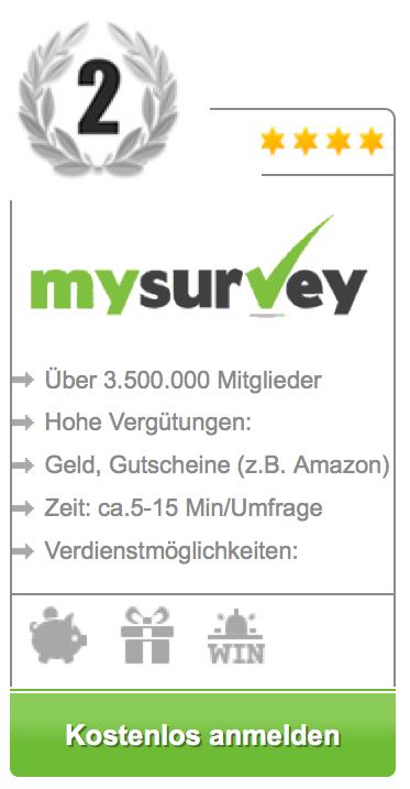 mysurvey - bezahlte umfrage 2