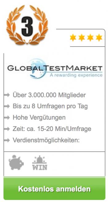 global test market - bezahlte umfrage 3